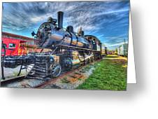 Steam Locomotive No 6 Norfolk And Western  Greeting Card