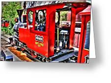 Steam Locomotive Old West V2 Greeting Card