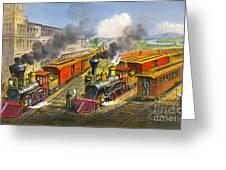 Steam Locomotives 1874 Greeting Card