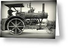 Steam Power Tractor Greeting Card