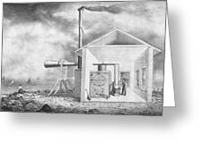 Steam-powered Foghorn Greeting Card