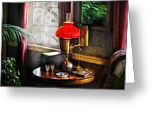 Steam Punk - Victorian Suite Greeting Card by Mike Savad