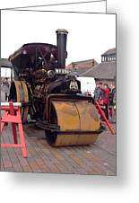 Steam Roller Greeting Card