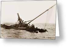 Steam Schooner Celia Steam SchoonerBuilt In 1884Lost At Pt Joe Greeting Card
