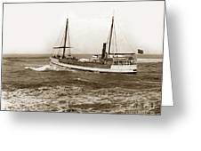 steam-schooner Elizabeth circa 1914 Greeting Card