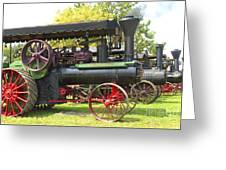 Steam Tractor Line-up Greeting Card