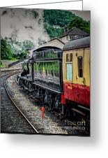 Steam Train 3802 Greeting Card by Adrian Evans