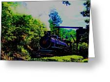 Steam Train Of Sevierville Greeting Card