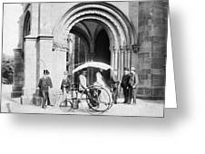 Steam Tricycle, 1888 Greeting Card