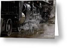 Steam Wheels Greeting Card