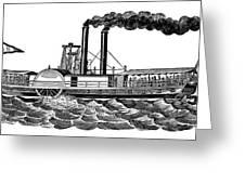 Steamboat, 19th Century Greeting Card