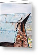 Steamboat Barn Greeting Card by Aaron Spong