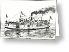 Steamboat Reliance Greeting Card