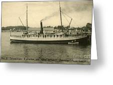 Steamer Eureka At Old Whaf Santa Cruz California Circa 1907 Greeting Card