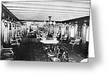 Steamer Interior, C1867 Greeting Card