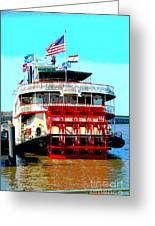 Steamer Natchez Paddleboat Greeting Card