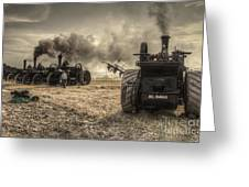 Steaming Giants  Greeting Card