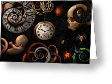 Steampunk - Abstract - The Beginning And End Greeting Card by Mike Savad