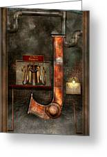 Steampunk - Alphabet - J Is For Jet Pack Greeting Card