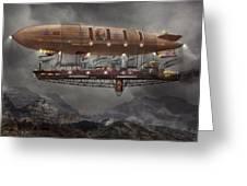 Steampunk - Blimp - Airship Maximus  Greeting Card