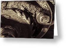 Steampunk Cable Car Brake Greeting Card