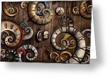 Steampunk - Clock - Time Machine Greeting Card