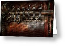 Steampunk - Electrical - Motorized  Greeting Card by Mike Savad