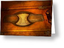 Steampunk - Electrician - The Portable Volt Meter Greeting Card
