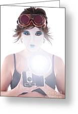 Steampunk Geisha Photographer Greeting Card