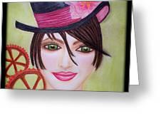 Steampunk Girl Greeting Card