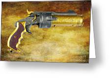 Steampunk - Gun - The Hand Cannon Greeting Card by Paul Ward