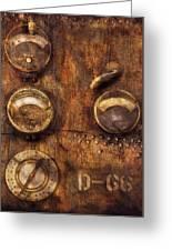 Steampunk - Meters D-66 Greeting Card