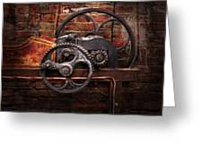 Steampunk - No 10 Greeting Card by Mike Savad