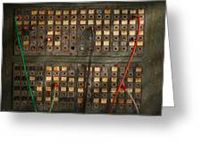 Steampunk - Phones - The Old Switch Board Greeting Card