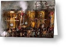 Steampunk - Plumbing - Distilation Apparatus  Greeting Card