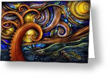 Steampunk - Starry Night Greeting Card