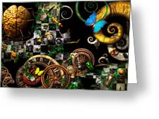 Steampunk - Surreal - Mind Games Greeting Card