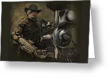 Steampunk - The Man 1 Greeting Card