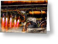 Steampunk - Train - The Super Express  Greeting Card