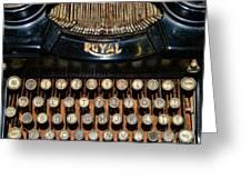 Steampunk - Typewriter -the Royal Greeting Card by Paul Ward