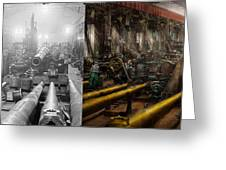 Steampunk - War - We Are Ready - Side By Side Greeting Card