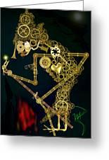 Steampunk Wayang Kulit Greeting Card