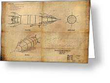 Steampunk Zepplin Greeting Card by James Christopher Hill