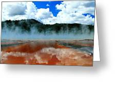 Steams And Reflections Greeting Card