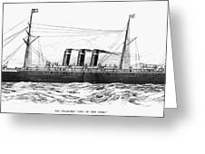 Steamship - City Of New York Greeting Card