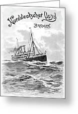 Steamship Menu, 1901 Greeting Card