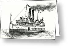 Steamship Tacoma Greeting Card