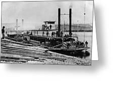 Steamships, C1864 Greeting Card