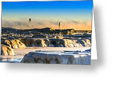 Steamy Iceburgs Greeting Card