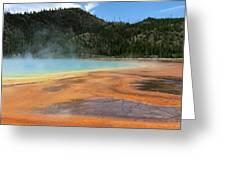 Steamy Yellowstone Greeting Card